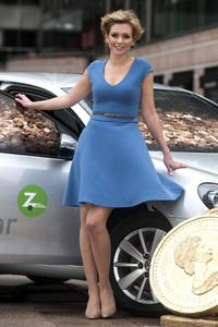 Rachel Riley Flashes Some Thigh